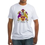 Rodney Family Crest  Fitted T-Shirt