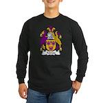 Rodney Family Crest Long Sleeve Dark T-Shirt