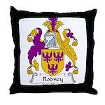 Rodney Family Crest Throw Pillow