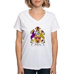 Rodney Family Crest  Women's V-Neck T-Shirt