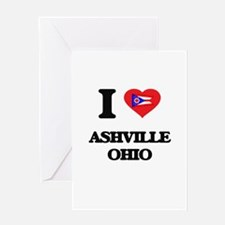 I love Ashville Ohio Greeting Cards