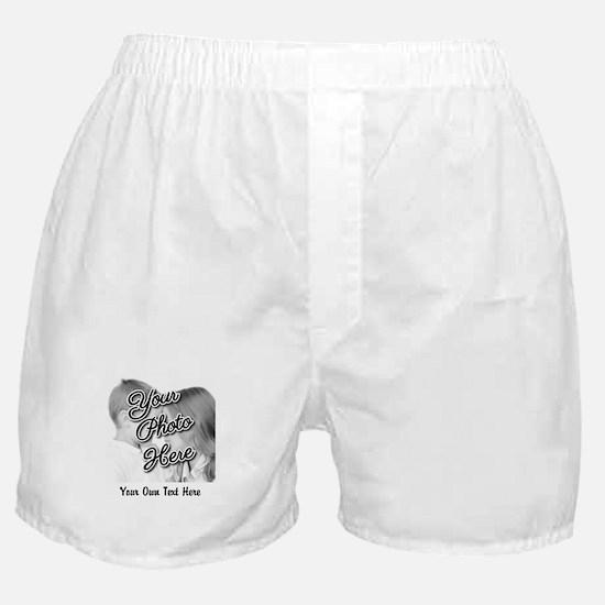 CUSTOM Photo and Caption Boxer Shorts