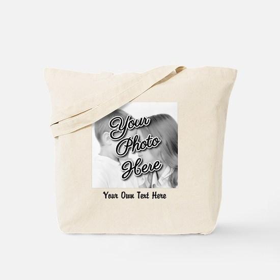 CUSTOM Photo and Caption Tote Bag