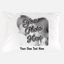 CUSTOM Photo and Caption Pillow Case