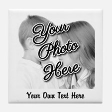 CUSTOM Photo and Caption Tile Coaster