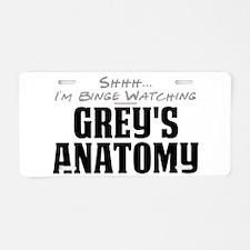 Shhh... I'm Binge Watching Grey's Anatomy Aluminum