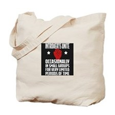 Introverts Unite! Tote Bag