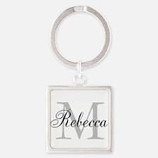 Monogram Initial And Name Personalize It! Keychain
