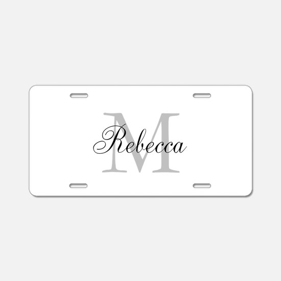 Monogram Initial And Name Personalize It! Aluminum