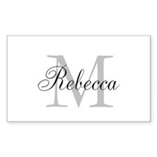 Monogram Initial And Name Personalize It! Decal