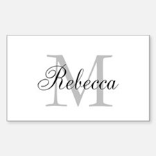 Monogram Initial And Name Personalize It! Bumper Stickers