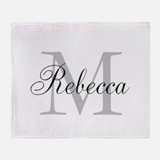 Monogram Initial And Name Personalize It! Throw Bl