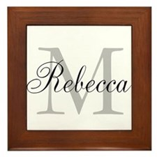 Monogram Initial And Name Personalize It! Framed T