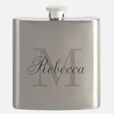 Monogram Initial And Name Personalize It! Flask