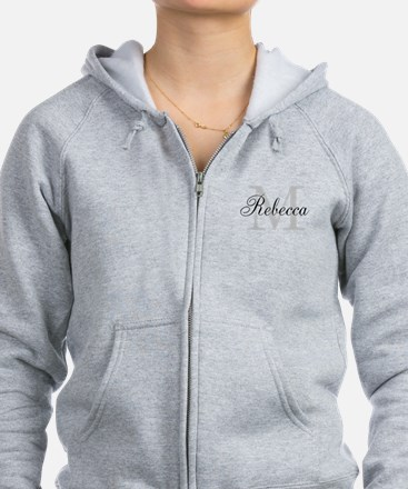 Monogram Initial And Name Personalize It! Zip Hood