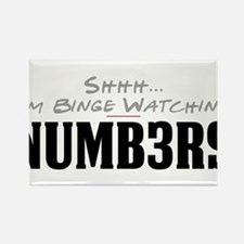 Shhh... I'm Binge Watching Numb3rs Rectangle Magne
