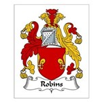 Robins Family Crest Small Poster