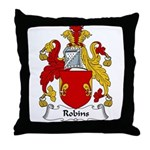 Robins Family Crest Throw Pillow