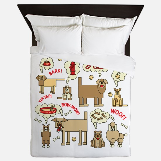 What Dogs Think Queen Duvet