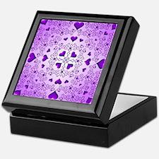 Purple Swirls and Hearts by Xennifer Keepsake Box