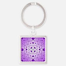 Purple Swirls and Hearts by Xennifer Keychains