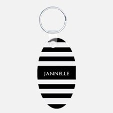 Personalized Black and Whit Keychains