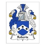 Roberts Family Crest Small Poster