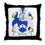 Roberts Family Crest Throw Pillow