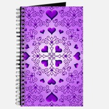 Purple Swirls and Hearts by Xennifer Journal