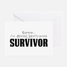 Shhh... I'm Binge Watching Survivor Greeting Card