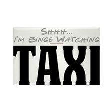 Shhh... I'm Binge Watching Taxi Rectangle Magnet
