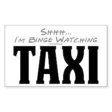 Shhh... I'm Binge Watching Taxi Rectangle Decal