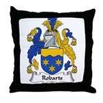 Robarts Family Crest Throw Pillow