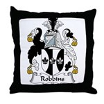 Robbins Family Crest Throw Pillow