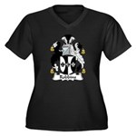 Robbins Family Crest Women's Plus Size V-Neck Dark