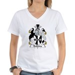 Robbins Family Crest Women's V-Neck T-Shirt