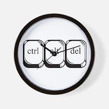 Ctrl Alt Del Wall Clock