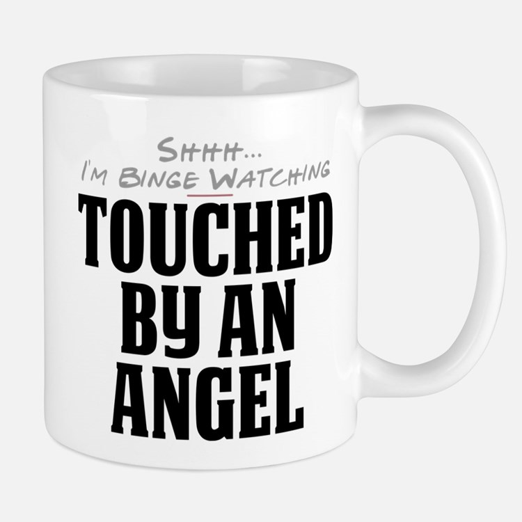 Shhh... I'm Binge Watching Touched by an Angel Mug