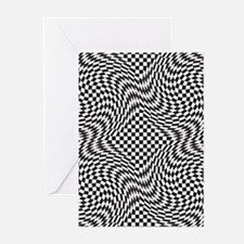 Optical Check Greeting Cards