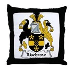 Risebrow Family Crest Throw Pillow