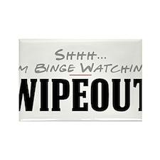 Shhh... I'm Binge Watching Wipeout Rectangle Magne