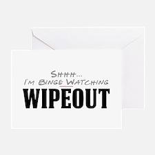 Shhh... I'm Binge Watching Wipeout Greeting Card