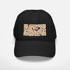Work Tools on Wood Baseball Hat
