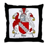 Rise Family Crest Throw Pillow