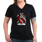 Rise Family Crest Women's V-Neck Dark T-Shirt