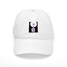 Purple cat rising Baseball Cap
