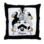 Rippon Family Crest Throw Pillow