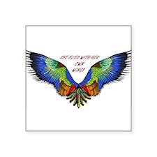 "Cute Wings Square Sticker 3"" x 3"""