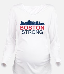 Boston Strong - Skyl Long Sleeve Maternity T-Shirt