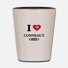 I love Conneaut Ohio Shot Glass